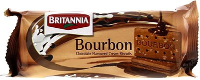 Britannia Bourbon Treat Cream Biscuits- 96 gms (4-Packs)