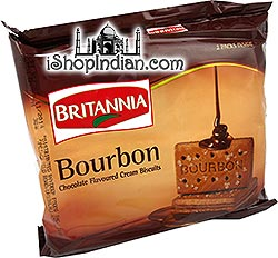 Britannia Bourbon Chocolate Cream Biscuits- 196 gms (2-Packs)