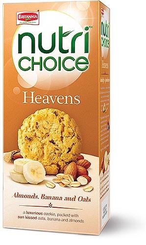 Britannia Nutrichoice Heavens Almonds, Banana & Oats Cookies