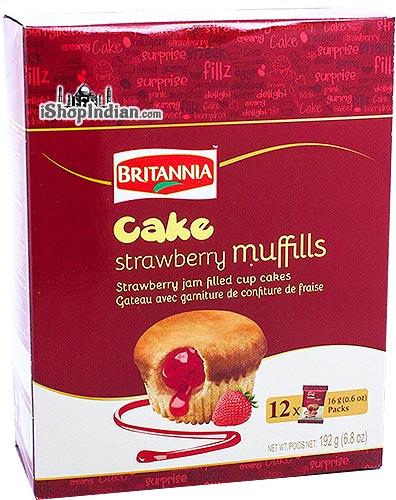 Britannia Cake - Strawberry Muffills
