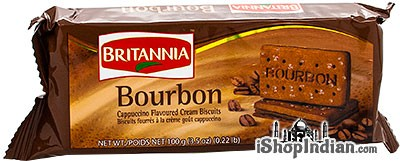Britannia Bourbon Cappuccino Flavored Cream Biscuits- 100 gms (4-Packs)