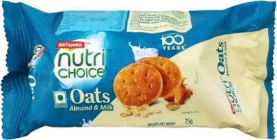 Britannia Nutrichoice Oats Cookies - Almond & Milk