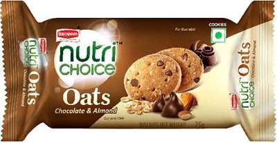 Britannia Nutrichoice Oats Cookies - Chocolate & Almond