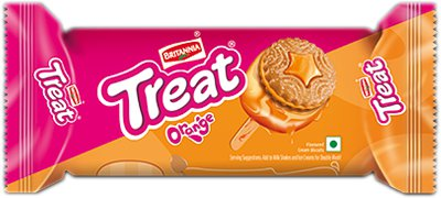 Britannia Treat Biscuits - Orange Cream Flavor