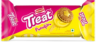 Britannia Treat Biscuits - Pineapple Cream Flavor
