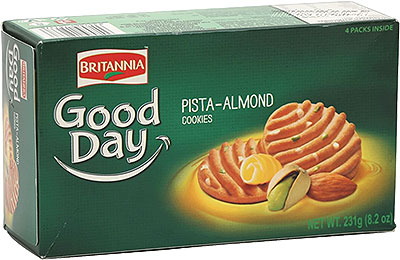 Britannia Good Day Pistachio & Almond Cookies - 8.2 oz