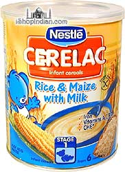 Nestle Cerelac - Rice & Maize (corn) with Milk