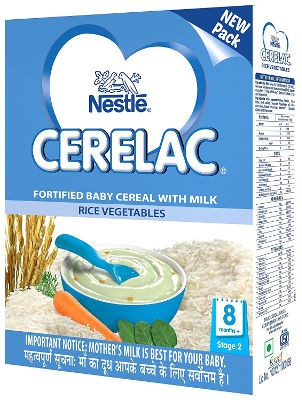Nestle Cerelac - Rice Vegetables - Stage 2