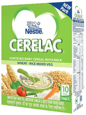 Nestle Cerelac - Wheat, Rice & Mixed Veg - Stage 3