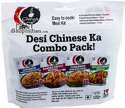 Ching's Secret Indian-Chinese Spice Mix Variety Pack - Desi Chinese Ka Combo Pack