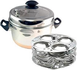Copper Bottom/Stainless Steel Idli Cooker (steamer) WITH Idli Rack