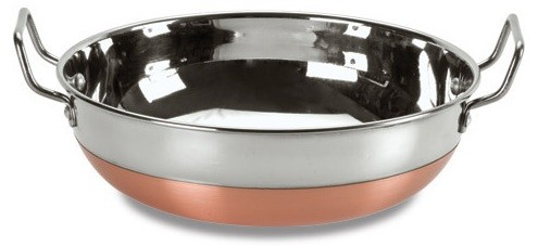 Stainless Steel Kadai with Copper Bottom - Stainless Steel Lid- 10.5""