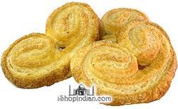 Crispy Butterfly Cookies (Baqar Khani)