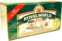 Royal World Ceylon's Finest Green Tea Bags - 50 tea bags