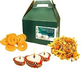 Diwali Diyas & Snacks Set