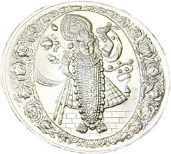 Srinathji .999 Silver Coin - 1 troy ounce (31 gms)