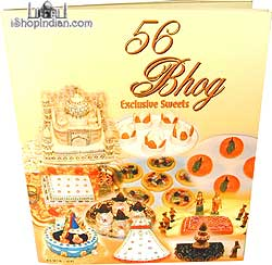 56 Bhog - Exclusive Sweets Cookbook + Free Nut Slicer!