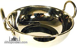Stainless Steel Kadai with Stainless Steel Bottom and Lid- 10 1/2