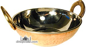 Copper Bottom Kadai - Serving Bowl (extra fancy) - 6""