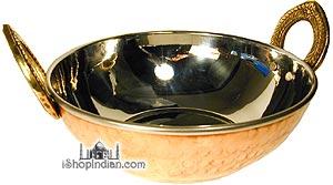 "Copper Bottom Kadai - Serving Bowl (extra fancy) - 5.25"""