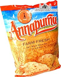 Annapurna 100% Whole Wheat Flour (atta) - 4.4 lbs