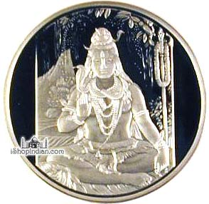 Shiva 999 Silver Coin 1 Troy Ounce 31 Gms Fine