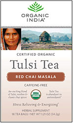 Organic India Tulsi Red Chai Masala Tea