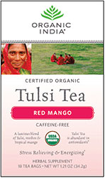 Organic India Tulsi Red Mango Tea