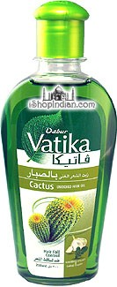 Dabur Vatika Enriched Cactus Hair Oil with Garger & Garlic