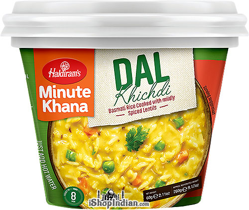 Haldiram's Instant Dal Khichdi - Basmati Rice Cooked with Mildly Spiced Lentils
