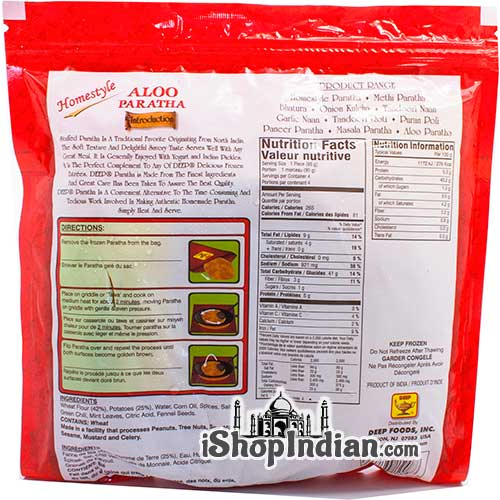 Deep Aloo Paratha - 4 Pcs (FROZEN) - Back