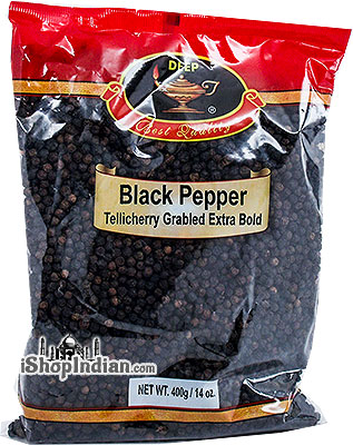 Deep Black Pepper Whole - Tellicherry Garbled Extra Bold