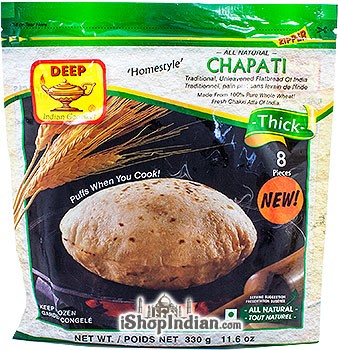 Deep Homestyle Chapati (Thick) - 8 pcs (FROZEN)