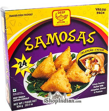 Deep Samosas - Jalapeno & Cheese - 24 pcs (FROZEN)