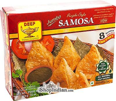 Deep Punjabi Style Samosa (Jumbo) - 8 pcs (FROZEN)