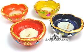 Kamal (Flower) Diya - 6 Pack