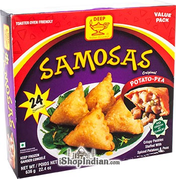 Deep Samosas  - Potato & Pea - 24 pcs (FROZEN)