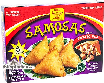 Deep Samosas - Potato & Pea - 8 pcs (FROZEN)