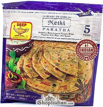 Deep Ready to Cook - Methi Paratha - 5 pcs (FROZEN)
