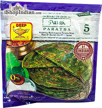 Deep Ready to Cook - Palak Paratha - 5 pcs (FROZEN)