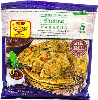 Deep Ready to Cook - Pudina (Mint) Paratha - 5 pcs (FROZEN)