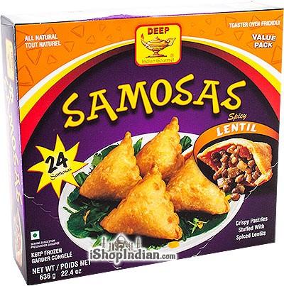 Deep Samosas - Spicy Lentil - 24 pcs (FROZEN)