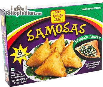 Deep Samosas - Spinach & Paneer - 8 pcs (FROZEN)
