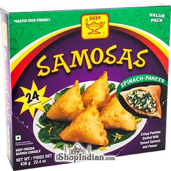 Deep Samosas  - Spinach & Paneer - 24 pcs (FROZEN)