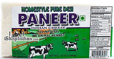 Homestyle Pure Desi Paneer - Indian Cheese (FROZEN)