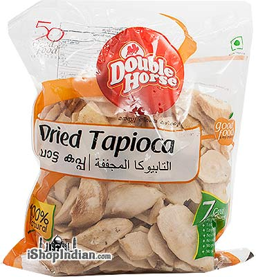 Double Horse Dried Tapioca / Cassava (Sliced)