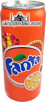 Fanta Orange Flavor Soda, Can, India