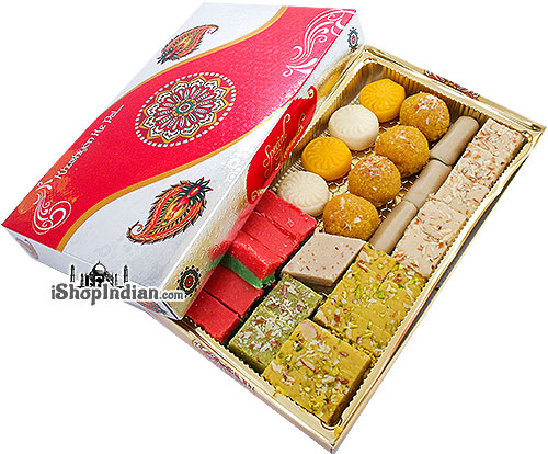 Fresh Indian Sweets in Gift Box - 2.25 lbs