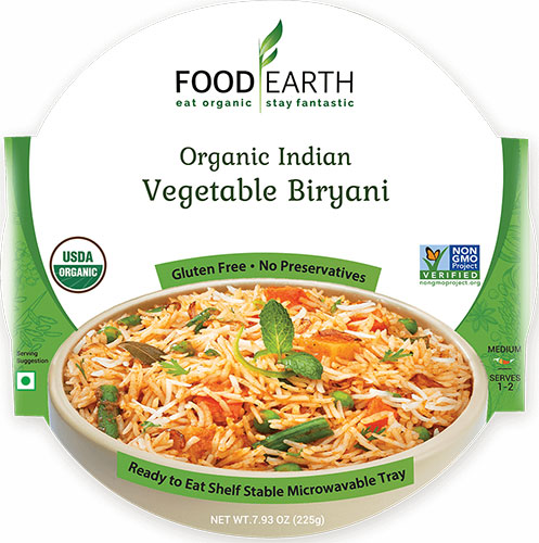 Food Earth Organic Vegetable Biryani (Ready-to-Eat)