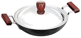 Futura Hard Anodised Kadhai (Deep-Fry Pan), 2.75 Litre (L74)